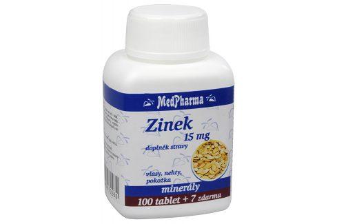 MedPharma Zinek 15 mg 100 tbl. + 7 tbl. ZDARMA Vitamíny a minerály