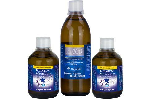 Pharma Activ Koloidní minerály 2x 300 ml + Koloidní stříbro Ag100 (10ppm) 500 ml ZDARMA Vitamíny a minerály