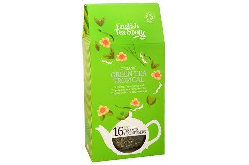 English Tea Shop Zelený čaj s infúzí tropického ovoce 16 pyramidek Čaje
