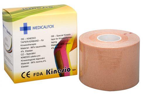 Medicalfox Tejpovací páska Kinezio 5 cm x 5 m Béžová (natural) Tejpy