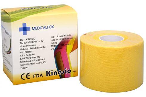Medicalfox Tejpovací páska Kinezio 5 cm x 5 m Žlutá Tejpy