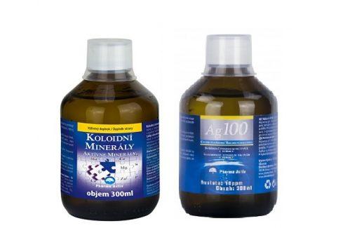 Pharma Activ Koloidní minerály 300 ml + Koloidní stříbro Ag100 (10ppm) 300 ml Vitamíny a minerály