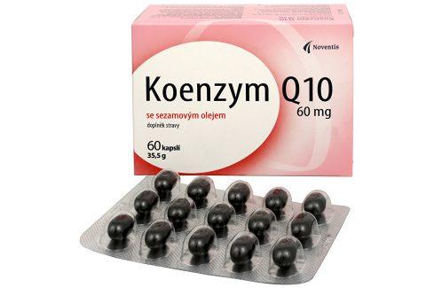 Noventis Koenzym Q10 60 mg se sezamovým olejem 60 kapslí Doplňky stravy