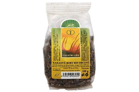 Country Life Kakaové boby nepražené drcené 100 g Sušené plody, ořechy, semena