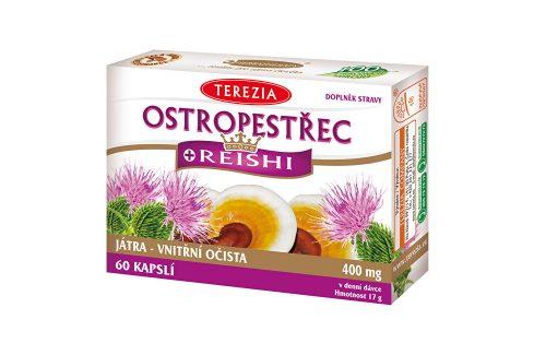 Terezia Company Ostropestřec + reishi 60 kapslí Doplňky stravy