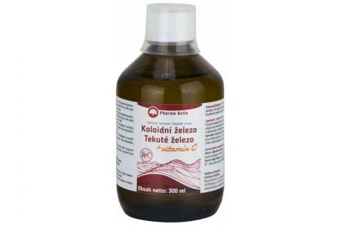 Pharma Activ Koloidní železo + vitamín C liquid 300 ml Vitamíny a minerály