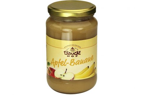 Bauck hof Bio Ovocné pyré Jablko+Banán - neslazené 360 g Zdravá výživa