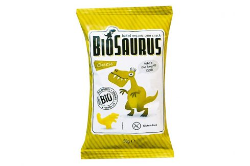 Biosaurus Bio Biosaurus křupky se sýrem 50g Krekry a snacky