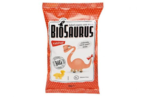 Biosaurus Bio Biosaurus křupky s kečupem 50g Dětské sušenky