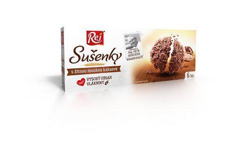 REJ S.R.O. Sušenky kakaové s žitnou moukou 120g Sušenky a piškoty