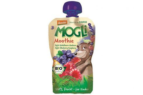 MOGLI Bio Ovocné pyré Moothie jablko borůvka malina bez cukru 100g Ovocné přesnídávky