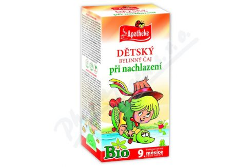 MEDIATE S.R.O. Apotheke Dětský čaj BIO nachlazení 20x1.5g n.s. Bylinné dětské čaje