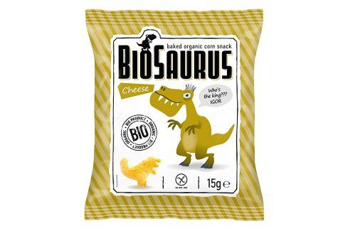 Biosaurus Bio křupky se sýrem 15g Krekry a snacky