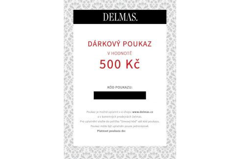 Delmas dárkový poukaz 500 Kč Dárkové poukazy