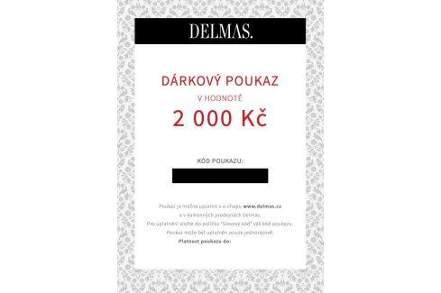 Delmas dárkový poukaz 2 000 Kč Dárkové poukazy