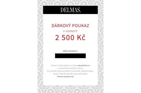 Delmas dárkový poukaz 2 500 Kč Dárkové poukazy